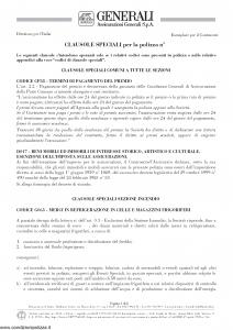 Generali - Clausole Speciali - Modello nd Edizione nd [8P]