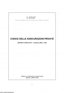 Generali - Codice Delle Assicurazioni Private - Modello nd Edizione 09-2008 [269P]