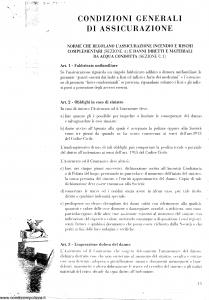Generali - Condizioni Generali Di Assicurazione - Modello nd Edizione nd [SCAN] [16P]