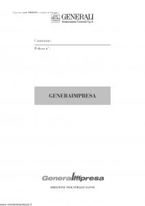 Generali - Generaimpresa Sezione Danni Da Interruzione Di Esercizio - Modello pmi08-02 Edizione nd [10P]
