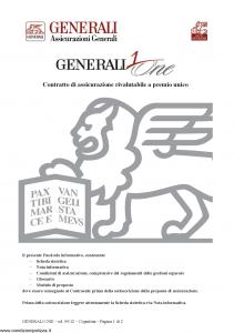 Generali - Generali One - Modello gvgo Edizione 09-2012 [36P]
