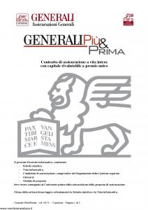Generali - Generali Piu' & Prima - Modello gvgpp0911 Edizione 12-09-2011 [28P]