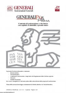 Generali - Generali Piu' & Prima - Modello gvgpp Edizione 08-11-2011 [28P]