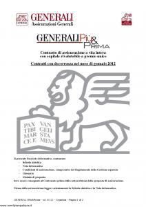 Generali - Generali Piu' & Prima - Modello gvgpp Edizione 16-01-2012 [30P]