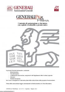 Generali - Generali Piu' & Prima - Modello gvgpp Edizione 29-11-2010 [28P]