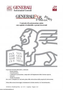 Generali - Generali Piu' & Prima Plan - Modello gvgpppl Edizione 21-12-2010 [30P]