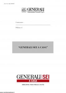 Generali - Generali Sei A Casa - Modello ca06-01 Edizione nd [33P]