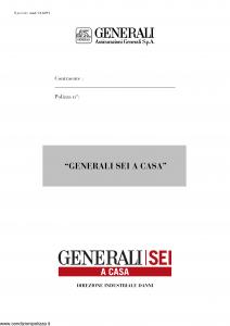 Generali - Generali Sei A Casa - Modello ca12-01 Edizione nd [12P]