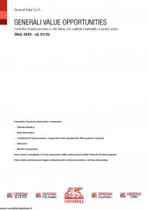 Generali - Generali Value Opportunities - Modello gvgv Edizione 01-01-2015 [48P]