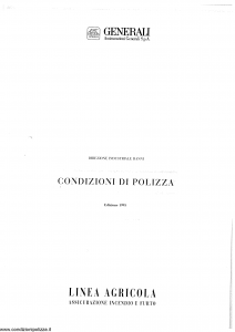 Generali - Linea Agricola Incendio E Furto - Modello a01-10 Edizione 05-1999 [SCAN] [24P]