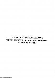 Generali - Polizza Assicurazione Tutti I Rischi Della Costruzione Di Opere Civili - Modello nd Edizione nd [SCAN] [16P]