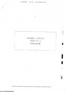 Generali - Polizza Incendio Rischi Civili - Modello nd Edizione 1999 [SCAN] [17P]