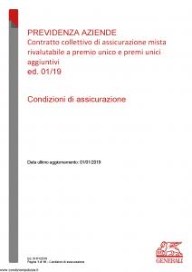Generali - Previdenza Aziende - Modello nd Edizione 01-01-2019 [10P]