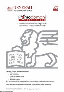 Generali - Primodomani Protezione - Modello gvpdpr Edizione 03-09-2012 [28P]