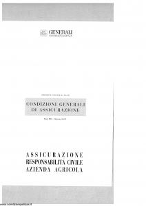 Generali - Responsabilita' Civile Azienda Agricola - Modello r22-5 Edizione 02-1997 [SCAN] [16P]