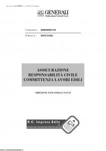 Generali - Responsabilita' Civile Committenza Lavori Edili - Modello r42b-01 Edizione nd [12P]