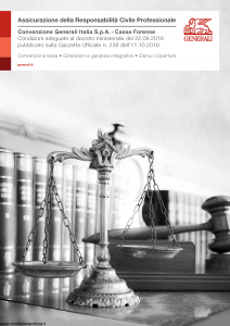 Generali - Responsabilita' Civile Professionale Convenzione Cassa Forense - Modello gd048 Edizione 06-2017 [12P]