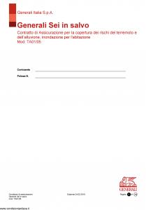 Generali - Sei In Salvo - Modello ta01-05 Edizione 24-02-2018 [14P]