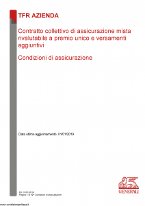 Generali - Tfr Azienda - Modello nd Edizione 01-01-2019 [10P]