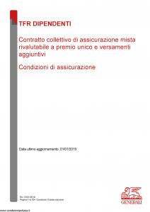 Generali - Tfr Dipendenti - Modello nd Edizione 01-01-2019 [10P]
