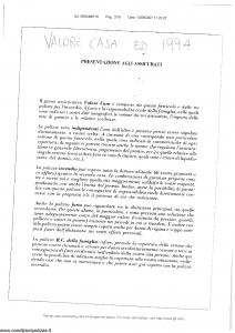 Generali - Valore Casa - Modello nd Edizione 1994 [SCAN] [17P]