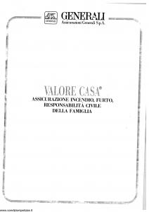 Generali - Valore Casa - Modello x03-30 Edizione 05-1992 [SCAN] [24P]
