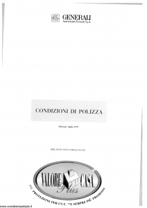 Generali - Valore Casa Plus - Modello 3x05c-150 Edizione 07-1997 [SCAN] [12P]