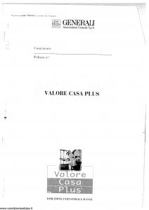 Generali - Valore Casa Plus - Modello vp03-01 Edizione nd [SCAN] [36P]