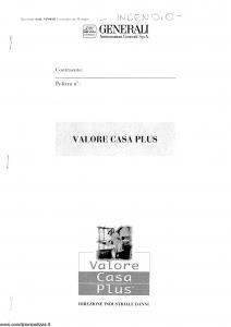 Generali - Valore Casa Plus - Modello vp04-01 Edizione nd [SCAN] [30P]