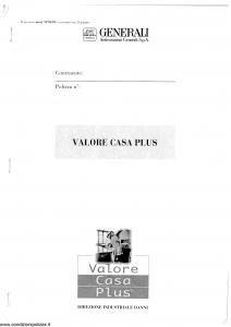 Generali - Valore Casa Plus - Modello vp05-01 Edizione nd [SCAN] [24P]