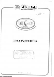 Generali - Valore Casa Plus - Modello x05f-60 Edizione 01-1998 [SCAN] [16P]