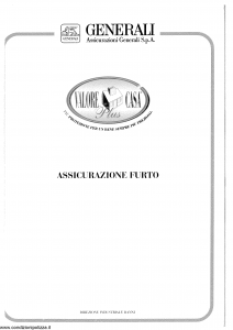 Generali - Valore Casa Plus - Modello x05f-60 Edizione 05-1997 [SCAN] [16P]