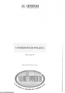 Generali - Valore Commercio - Modello pi48-20 Edizione 04-1998 [SCAN] [64P]