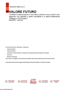 Generali - Valore Futuro - Modello gvvf Edizione 01-2015 [159P]