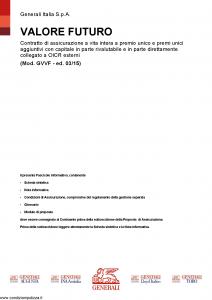 Generali - Valore Futuro - Modello gvvf Edizione 03-2015 [120P]