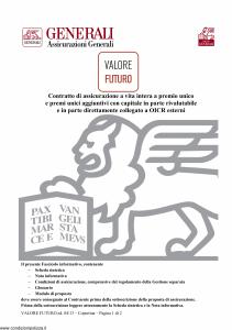 Generali - Valore Futuro - Modello gvvf Edizione 04-2013 [108P]