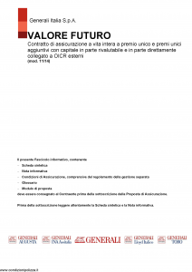 Generali - Valore Futuro - Modello gvvf Edizione 10-11-2014 [155P]