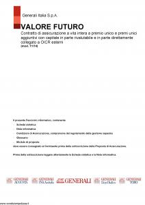 Generali - Valore Futuro - Modello gvvf Edizione 11-2014 [155P]