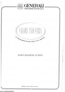 Generali - Valore Industria Assicurazione Furto - Modello vifur-01 Edizione 06-1996 [SCAN] [16P]