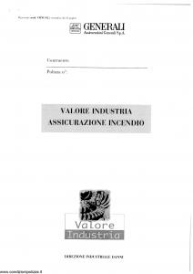 Generali - Valore Industria Assicurazione Incendio - Modello viinc-02 Edizione nd [SCAN] [28P]
