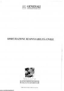 Generali - Valore Industria Responsabilita' Civile - Modello virc-02 Edizione 06-1999 [SCAN] [16P]
