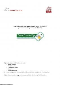 Generali - Valore Protetto Plus - Modello gvpp-12 Edizione 12-2005 [66P]