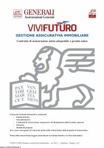 Generali - Vivi Futuro Gestione Assicurativa Immobiliare - Modello gvgivf Edizione 03-09-2012 [44P]