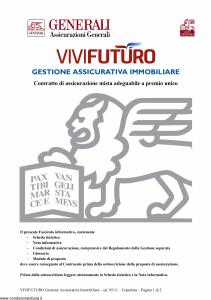 Generali - Vivi Futuro Gestione Assicurativa Immobiliare - Modello gvgivf Edizione 31-05-2011 [26P]