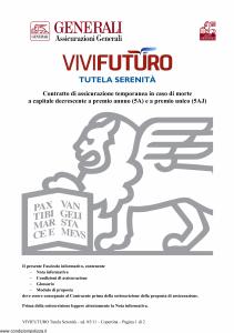 Generali - Vivi Futuro Tutela Serenita' - Modello gvisvf Edizione 31-05-2011 [18P]