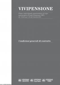 Generali - Vivipensione - Modello cb001886.314 Edizione 05-12-2005 [24P]