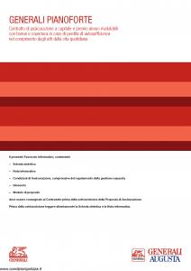Generali Augusta - Generali Pianoforte - Modello gvgpf augusta Edizione 01-07-2014 [58P]