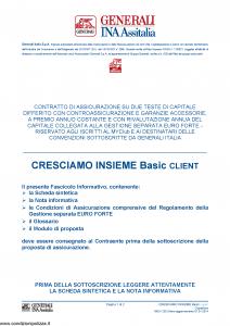 Generali Ina Assitalia - Cresciamo Insieme Basic Client - Modello midv230 Edizione 01-01-2014 [60P]