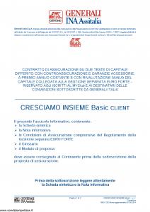 Generali Ina Assitalia - Cresciamo Insieme Basic Client - Modello midv230 Edizione 31-05-2014 [60P]