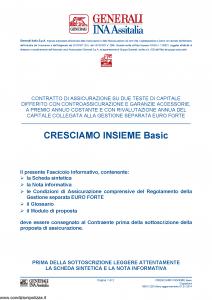 Generali Ina Assitalia - Cresciamo Insieme Basic - Modello midv228 Edizione 01-01-2014 [64P]